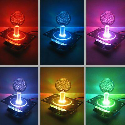 LED Light Arcade Illuminated Joystick Colorful Switchable 4 to 8 way operation