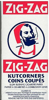 25 Packs Zig-Zag Kutcorners SLOW BURNING Rolling papers 25*100 = 2500 Papers