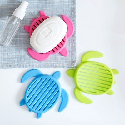 Tortoise Shape Plastic Home Travel Soap Dishes with Cover Bathroom Set Soap Dish