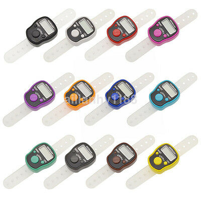 UK LED Digital Light Finger Ring Tally Row Counter Knitting Row Counters Clicker