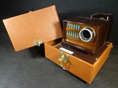 Vintage 1950's Sawyers VIEW MASTER DELUXE PROJECTOR IN HARD CASE Mint Never Used