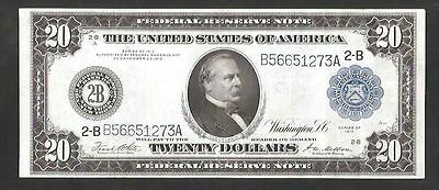 Beautiful Type A New York 1914 $20 Large Federal Reserve Note ((Sale ))