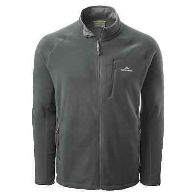 Kathmandu Trailhead Mens High Collar Full Zip Warm Outdoor Fleece Jacket Grey
