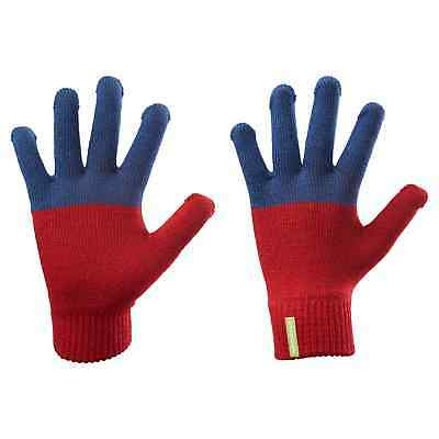 Kathmandu Poma Kids Girls Boys Warm Everyday Outdoor Winter Gloves Red Navy