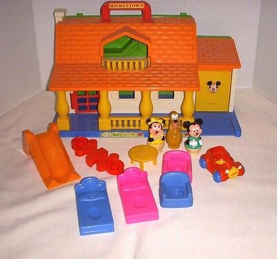 Vintage Mickey Town - Mickey's House W/ Accessories - 1983