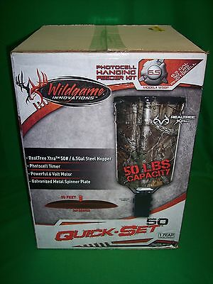 Wildgame Innovations Photocell Hanging Deer Turkey Feeder 50 lbs - Realtree Xtra