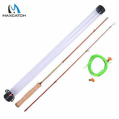 "Office/Casting Practice Fly Fishing Rod 4'3"" 2Sec Practicaster & Fly Line"
