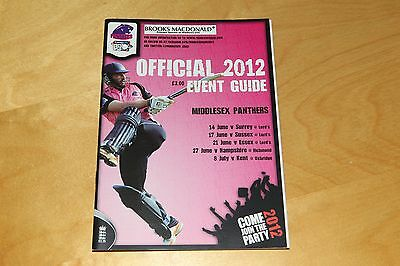 Middlesex Panthers - Official 2012 T20 Cricket Event Guide
