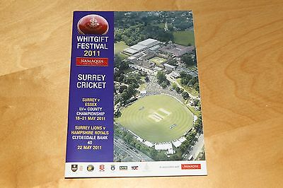 Surrey CCC v Essex CCC - Whitgift Festival Cricket Programme 18 to 21 May 2011