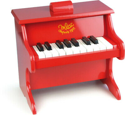 Red Piano by Vilac | Kids Childrens Red Wooden Music NEW