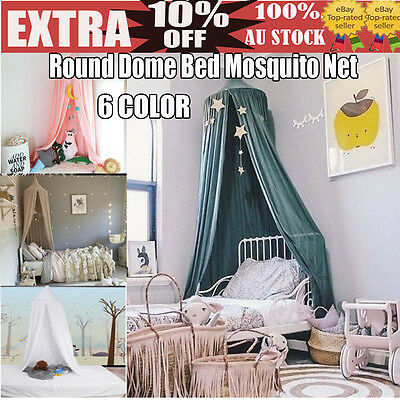 Kids/Child Bedding Round Dome Bed Canopy Netting Bedcover Mosquito Net Curtain P
