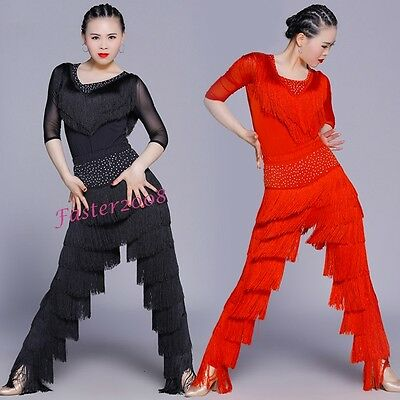 RHUMBA LATIN JUMPSUIT DANCE COSTUME DOTTED CARIBE Ladies Petite fits 10C-12C