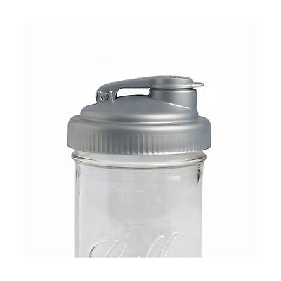 reCAP Mason Jars POUR Wide Mouth Canning Jar Lid Silver New