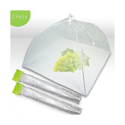 Mesh Screen Food Cover Tents - Set of 2 Large Galvanized Steel Wire Pop-U... New