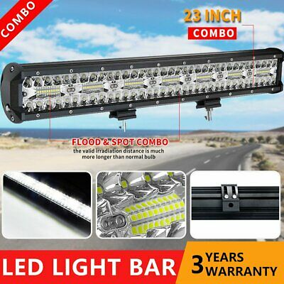 23 inch 2220W CREE LED Light Bar + 23'' Black Number Plate Frame Mount Bracket
