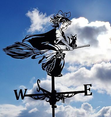 Kiki's Delivery service Metal Weathervane Roof Mount Girl on the broom Witch