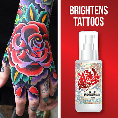 Inked Up Tattoo Brightener Cream – Improves Tattoo Colour Stops Fading