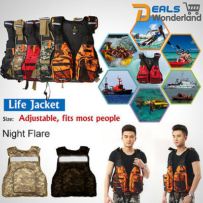 Universal Kayak Canoe Surfing Sailing Fishing Life Jacket Buoyancy Aid Vest