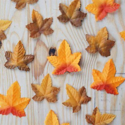 500 Fall Maple Leaf Petals Fancy Catering Wedding Decoration Party Linens SALE