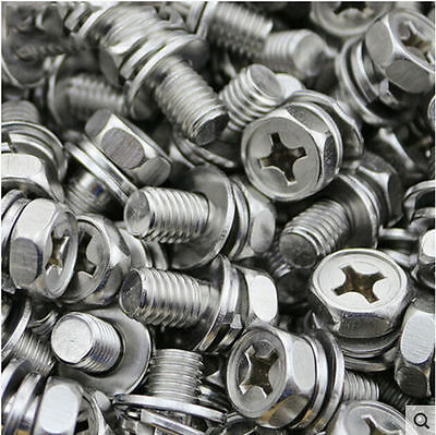 M5 M4 M3 *6-30 304 Stainless Phillips SEMS Screw Hexagon Bolt With Sping Washer