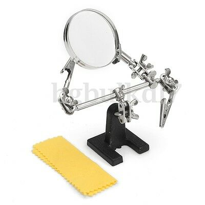 NSW Solder Third Hand Soldering Iron Stand Holder Station Magnifier Helping Tool