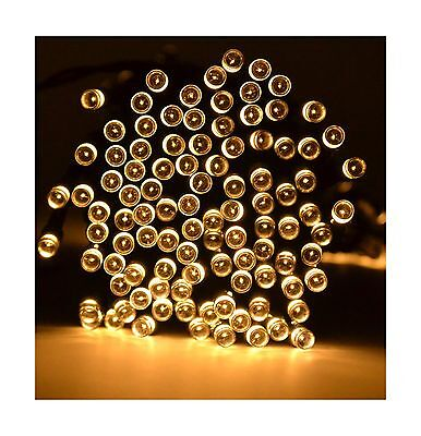 Samyo 72ft 200 LED 2 Light Modes Waterproof Solar Fairy Lights String for... New