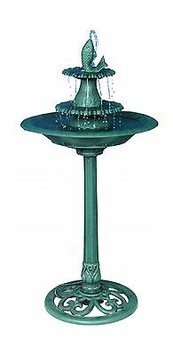 Alpine 41-Inch Tiered Pedestal Fish Fountain Birdbath New