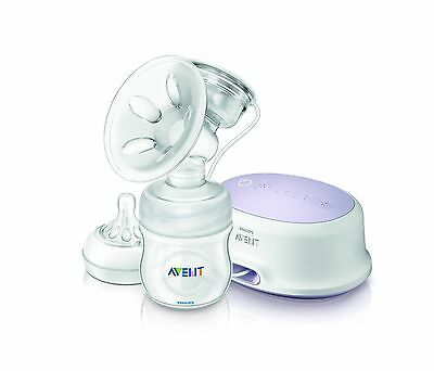 Philips Avent Comfort Single Electric Breast Pump White SCF332/11 New