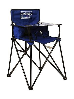 Ciao! Baby Portable High Chair Blue with Carrying Case New