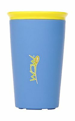 Wow Cup 9oz Blue with Yellow Lid New