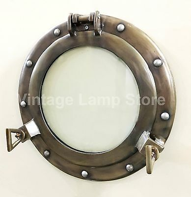 "11"" Aluminum Porthole Glass Window Antique Finish Cabin Porthole ~Wall Decor"