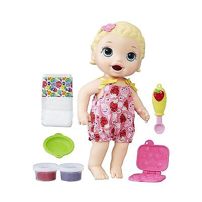 BABY ALIVE Snackin Lily Blonde New