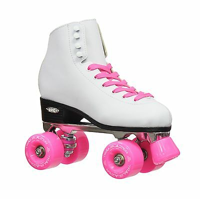 Epic Skates 2016 Epic Classic 4 High-Top Quad Roller Skates with Pink Whe... New