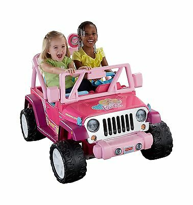 Fisher-Price Power Wheels Barbie Jammin' Jeep Wrangler Ride On New