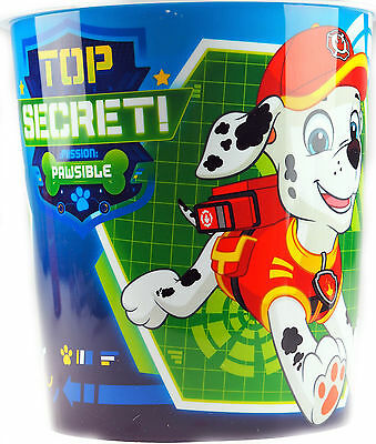 Paw Patrol Children's Bedroom Waste Paper Bin - Cartoon Blue