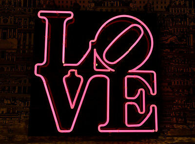 "New Love Kiss Wall Decor Heart Art Man Cave Neon Sign 20""x16"""