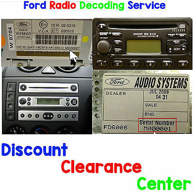 ford focus 1998 2004 mk1 mk1 5 factory visteon radio. Black Bedroom Furniture Sets. Home Design Ideas