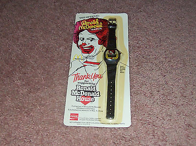 1984 VINTAGE Ronald McDonald WATCH promotional COCA COLA McDonald's house NIP