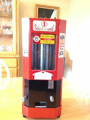 Vintage 1940's Select O Vend Candy And Gum Vending Machine
