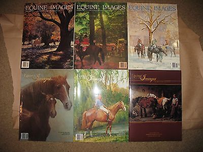 6 EQUINE IMAGES magazine issues 1986-89 HORSE ART photos-history-collecting