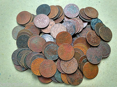 Lot 100 Pcs Indonesia Netherland Indies 1 Cent Mix Years-C17