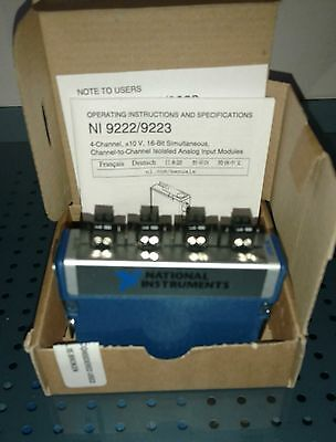 NEW National Instruments NI 9223 Analog Input 1 MS/s cRIO/cDAQ NI-9223  NEW
