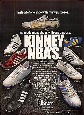 1980 Kinney Shoes Vintage Print Ad NBA Great American Shoe Store