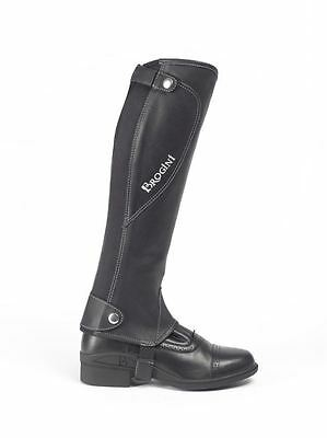 Brogini Milano Horse Riding Equestrian Real Leather Half Chap Protective Gaiter