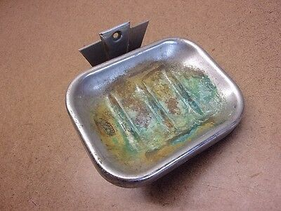 VTG CHROMED SOAP DISH Handi Thing Brand Reclaimed Commercial Motel Pat'd 1933
