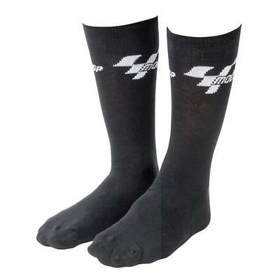 New 1 X Pair Of Everyday Motogp Black Cotton Socks Adult Free Size Mgpsoc03