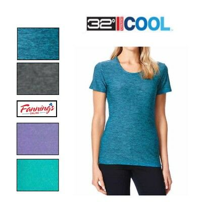 Womens 32 Degrees Cool Short Sleeve Scoop Neck Tee TShirt Color & Size VARIETY !