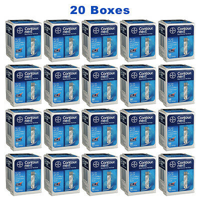 Bayer Contour Next Test Strips - 1000 Count (20 Boxes of 50)