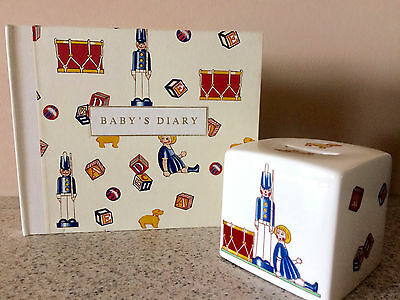 Tiffany & Co Mason's bank and matching baby's diary great cond. made in England