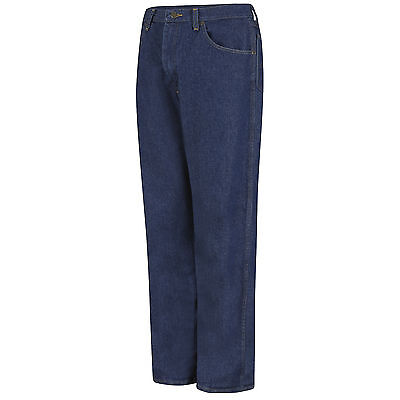 Red Kap Mens Relaxed Fit Five Pocket Jeans - 44x28 - Prewashed Indigo